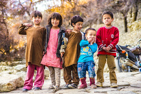 Kids from the Hunza Valley.