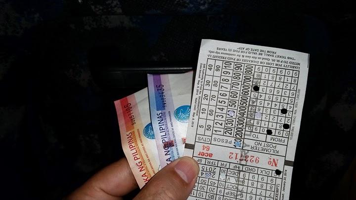 オロンガポ-ダオ間のチケットは140ペソ也