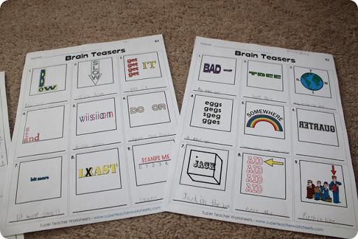 Super Teacher Worksheets Brain Teasers & Super Teacher Worksheets - Homeschooling 6 ngosaveh.com