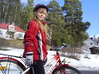 Idas första cykeltur 2008
