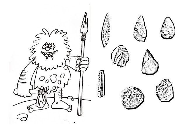 Prehistoric tools coloring pages