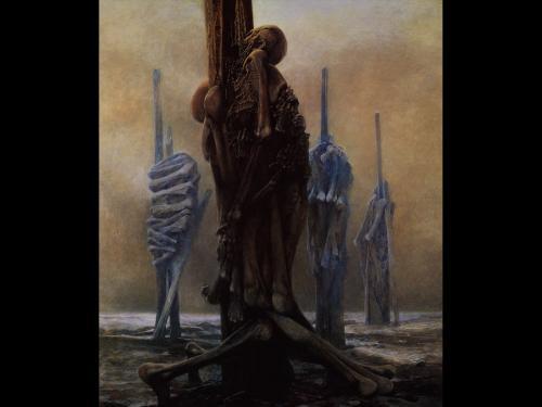 Zdzislaw Beksinski Sceletons, Death