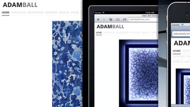 Adam Ball Portfolio and Exploring Responsive Images