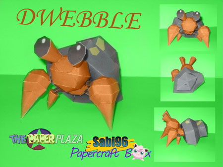 Pokemon Dwebble Paper Model