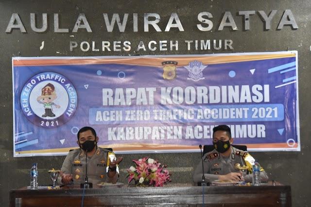 Polres Aceh Timur Komitmen Wujudkan Zero Traffic Accident