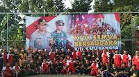 Polres Tegal Gelar Silaturahim dan Olah Raga Bersama Dengan Warga Papua