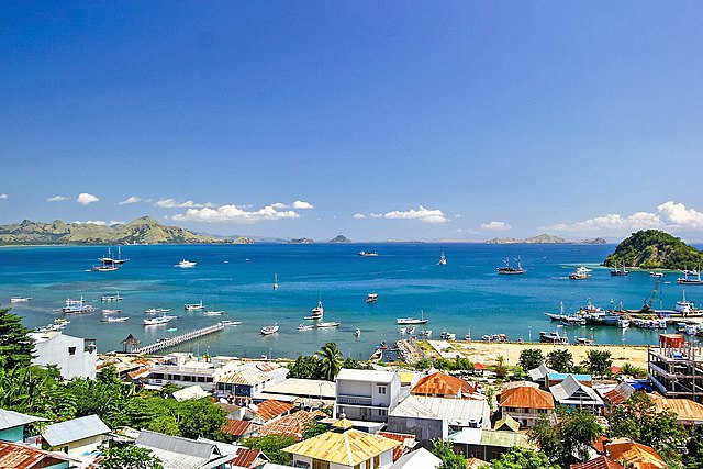 A bright view of the Labuan Bajo port