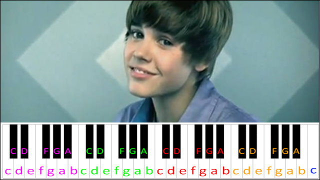 Baby by Justin Bieber ~ Piano Letter Notes