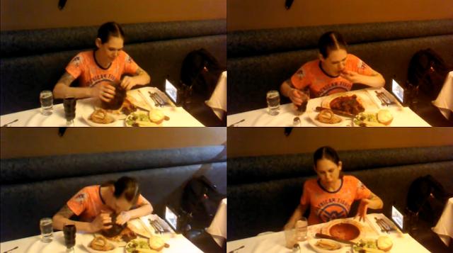 【動画】米女性が2kgのステーキを2分44秒で完食(ギネス記録を大幅に更新)