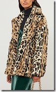 Free People Leopard Print Faux Fur Jacket