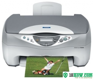 How to reset flashing lights for Epson CX3200 printer