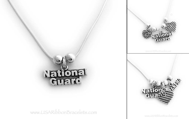 National Guard Charm Necklace for Mommy