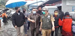 Wabup Sukabumi Adjo Sardjono Dan Yudha Sukmagara Ketua DPRD Kunjungi Lokasi Bencana