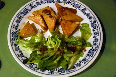 Tofu laqué à l'orange
