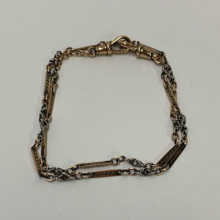 14K White & Rose Gold Double Loop Bracelet