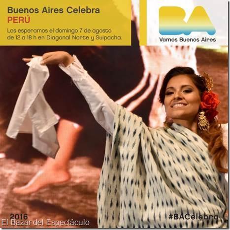 Buenos aires celebra peru 2016 gratis horario for Espectaculos argentina 2016