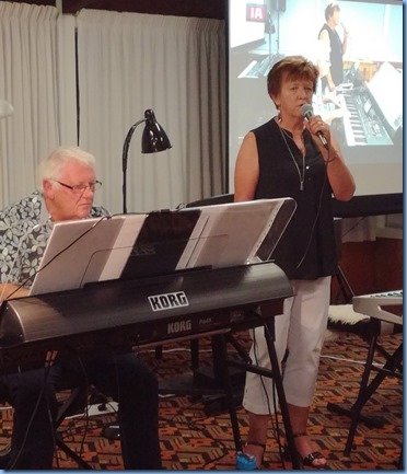 Rod and Nelleke Moffat - Rod playing his Korg Pa4X (76 note) and Nelleke singing. Photo courtesy of Dennis Lyons.