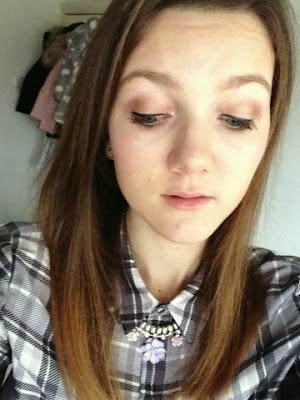 Bronze based eye makeup look