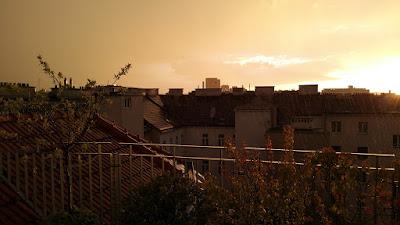 Starkregen in Wien-Favoriten