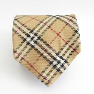 Burberry London Plaid Silk Tie