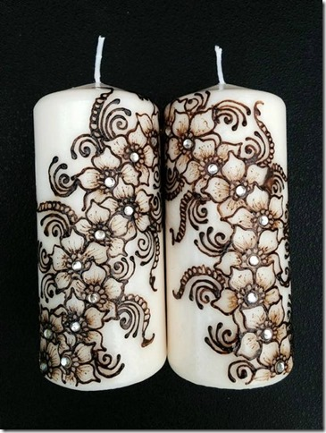 18 Beautiful Diy Henna Art Inspired Candle Designs Home Decor