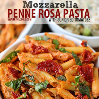 Mozzarella Penne Rosa Pasta with Sun Dried Tomatoes