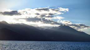 Morning at Pangong lake