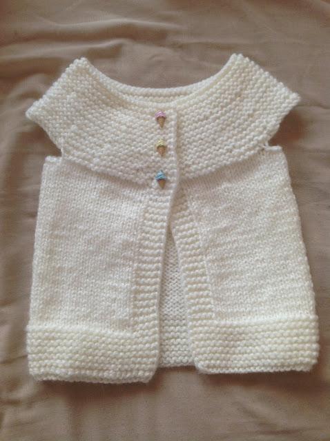 Chaleco tejido para niña bebé  400e0f804f2b