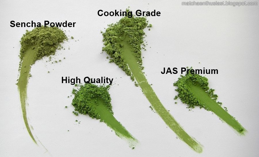 different Matcha grades