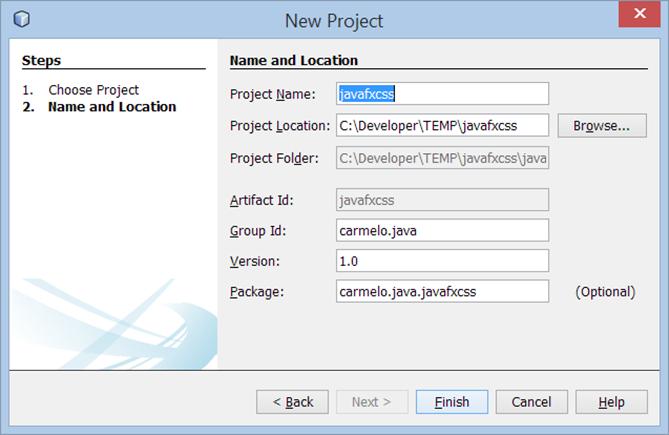 Crear un proyecto Maven JavaFX
