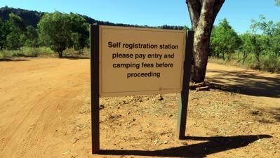 Self Registration Sign