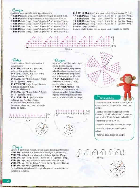 patrones-mono-amigurumi