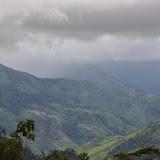 Pluie sur la vallée du Rio Mira. Piste de Gualchan à Chical, 1600 m (Carchi, Équateur), 3 décembre 2013. Photo : J.-M. Gayman