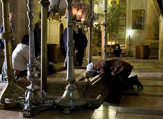 Santo Sepolcro - la pietra dell'unzione