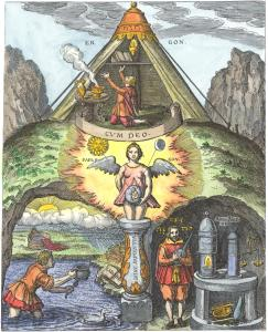 From Theophilus Schweighardt Mirror Of The Rosicrucian Wisdom, Alchemical And Hermetic Emblems 1