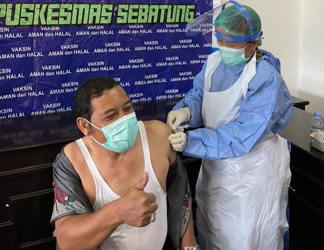 Jalani Vaksinasi Covid-19, Ini Pesan Ketua Komisi III DPRD Kotabaru