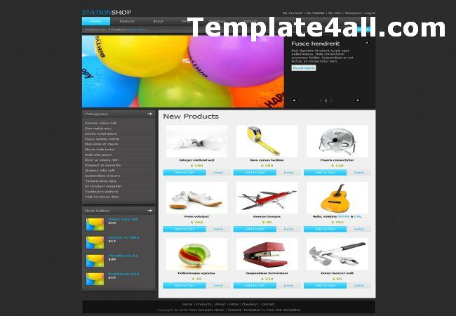 Online Shop Black HTML Website Template