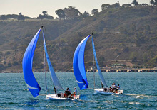 J/70s sailing off Point Loma, San Diego