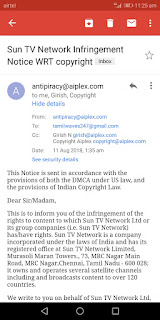 DMCA email From Aiplex Software  Not from YouTube - YouTube Help