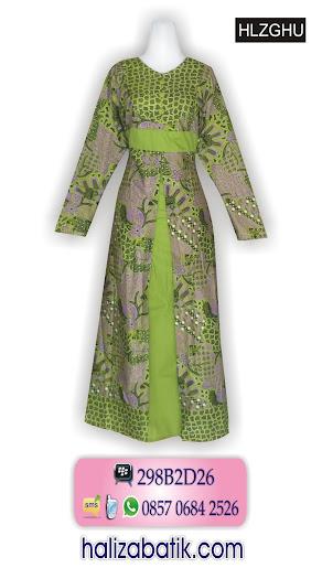 grosir batik pekalongan, Baju Gamis Batik, Gamis Batik Modern, Gamis Batik