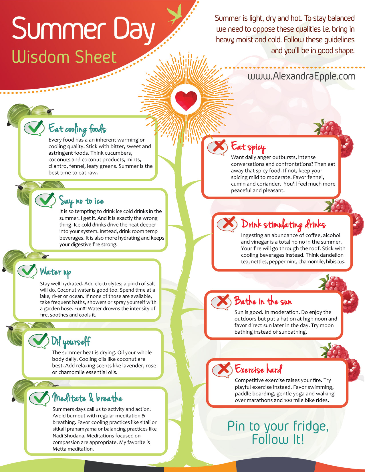 DOWNLOAD the Summer Wisdom Sheet here