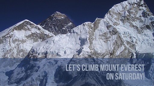 climb Mount Everest using VIRTUAL Reality