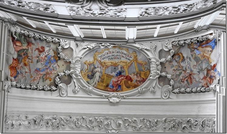 Markuskirche Deckenfresken über der Orgelempore