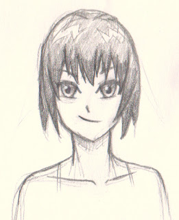 Draw manga girl short hair