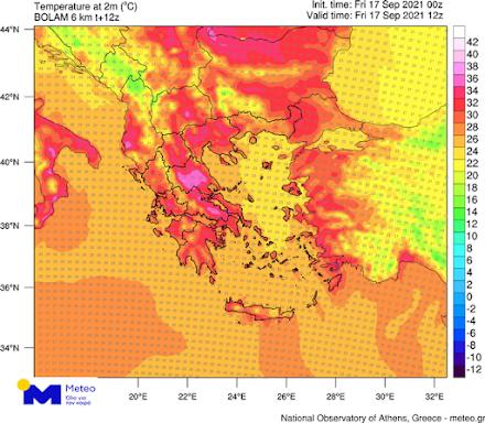 Εθνικό Αστεροσκοπείο Αθηνών : Στους 34 με 36 βαθμούς κελσίου οι μέγιστες θερμοκρασίες σήμερα