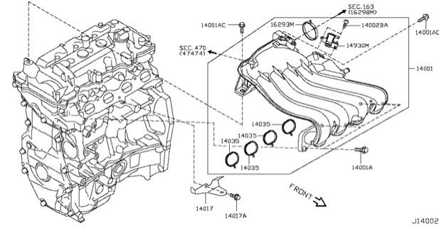 KP Gasket: Nissan Almera Intake Manifold Gasket