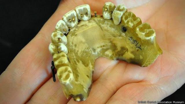 dientes waterloo hechos con marfil