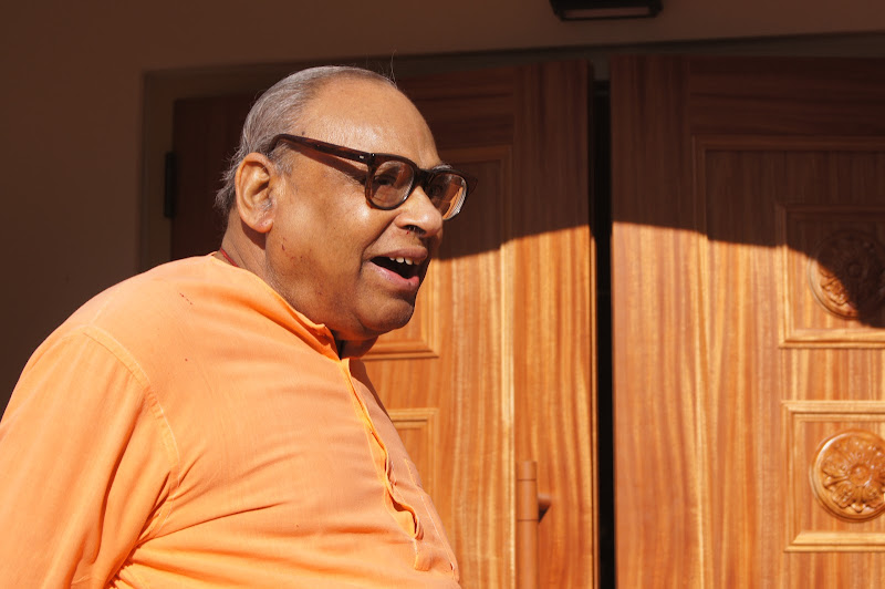 Day 2 Joyful Swami Tathagatanandaji before new temple opening