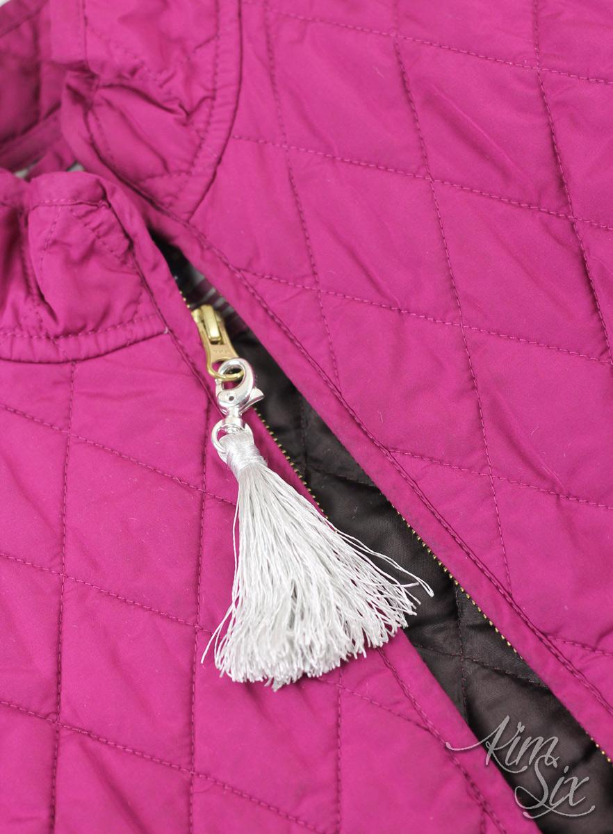 DIY tassel zipper pull