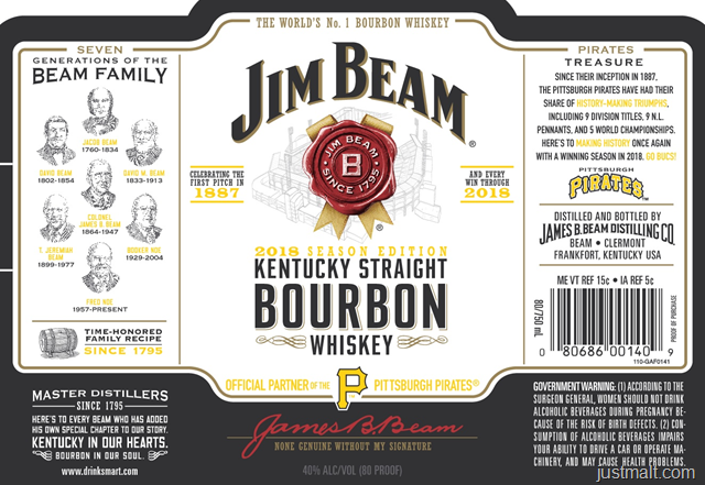 Jim Beam 2018 Season Edition Pittsburgh Pirates